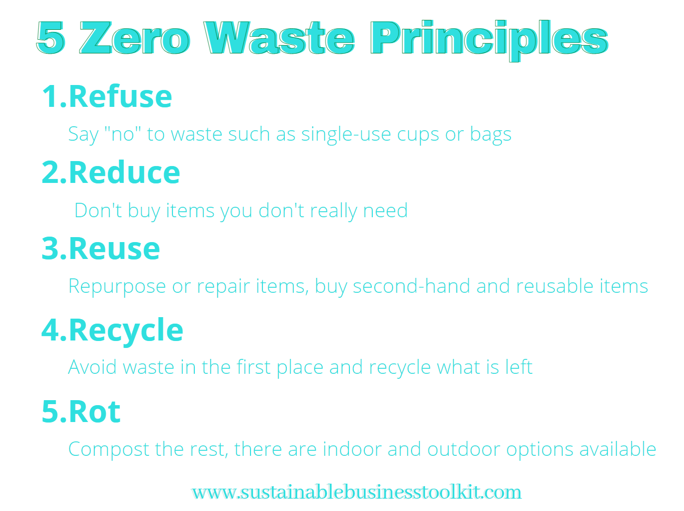 5 Zero Waste Principles