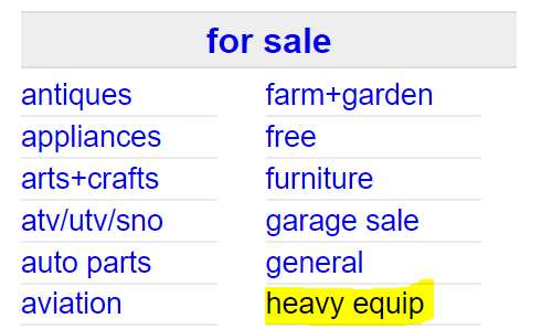 Sell Used Industrial Equipment on Craigslist