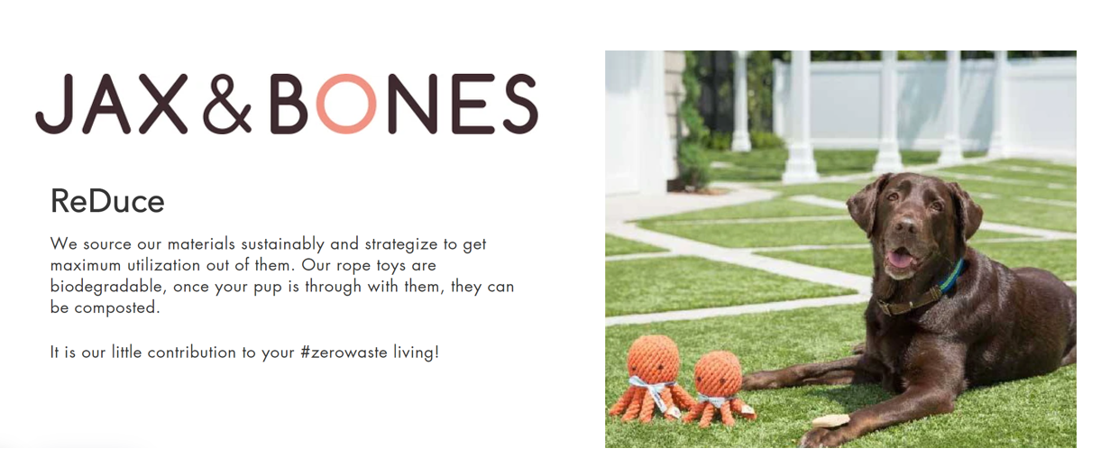 Jax and Bones Zero Waste Eco-Friendly Dog Toys