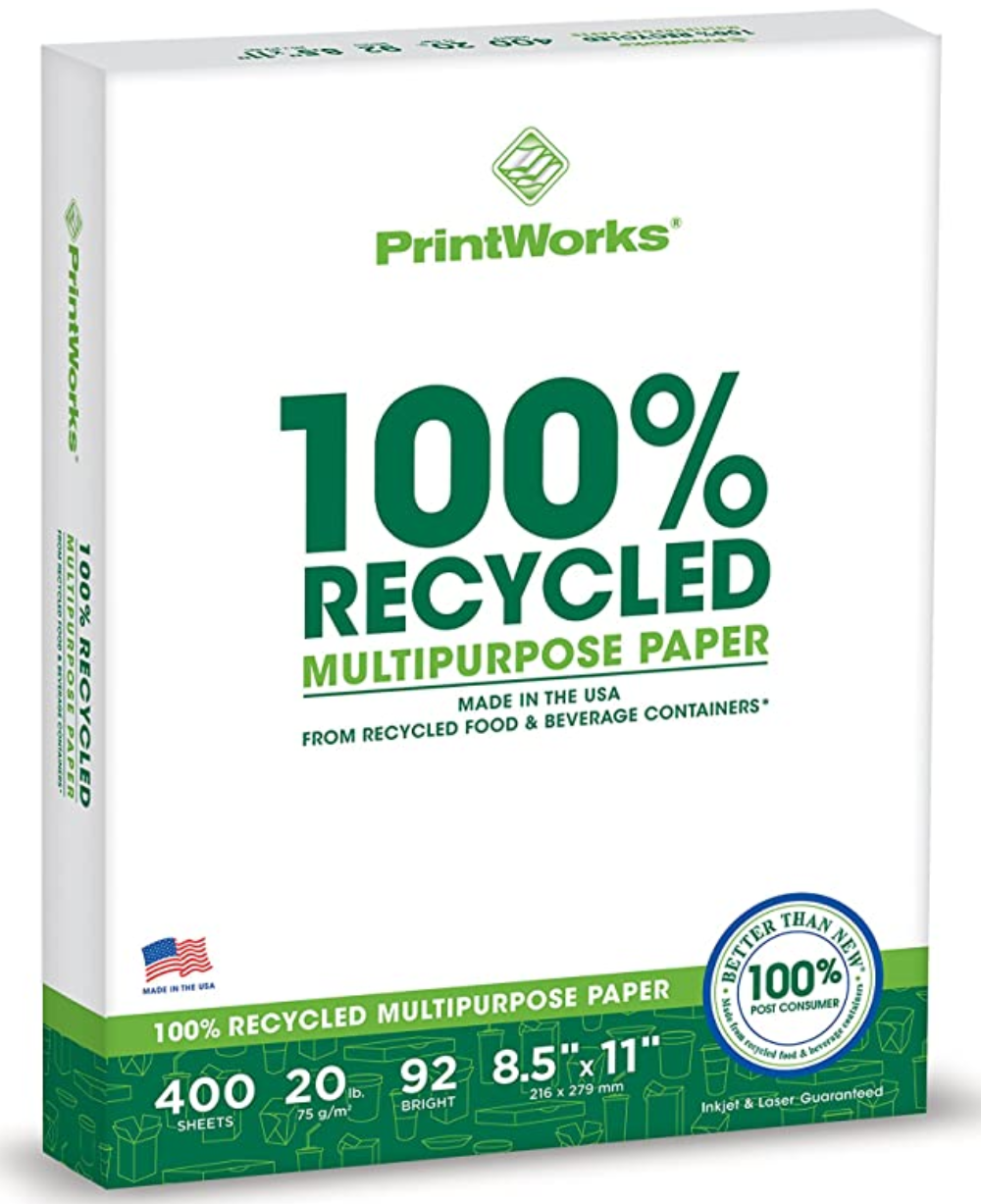 PrintWorks Recycled Printer Paper - Any Company Can Implement These Go Green Ideas