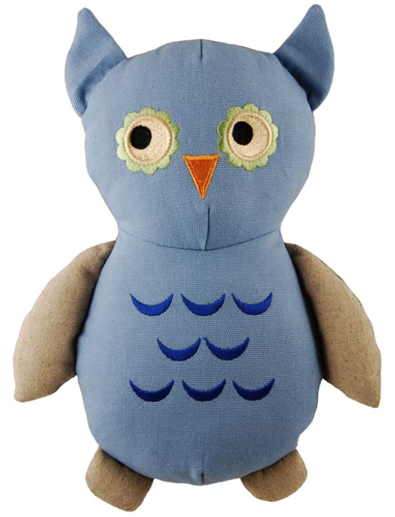 Plush Owl Made With Recycled All Natural Materials - Eco-Friendly Dog Toys Made By Simply Fido