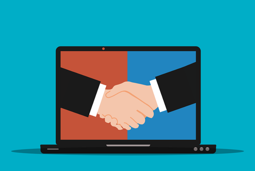 Social Media and CSR Trust - Graphic of two people shaking hands