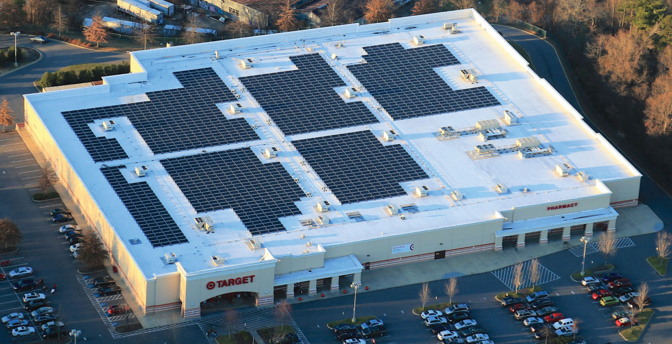 Solar Panels on a Target Store
