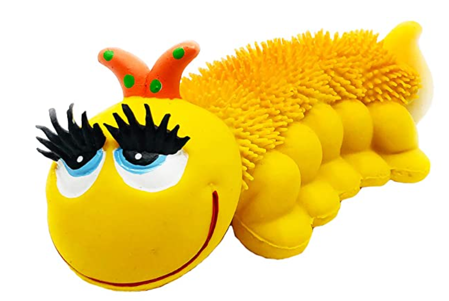 Textured Caterpillar Dog Toy Made From Eco-Friendly Materials