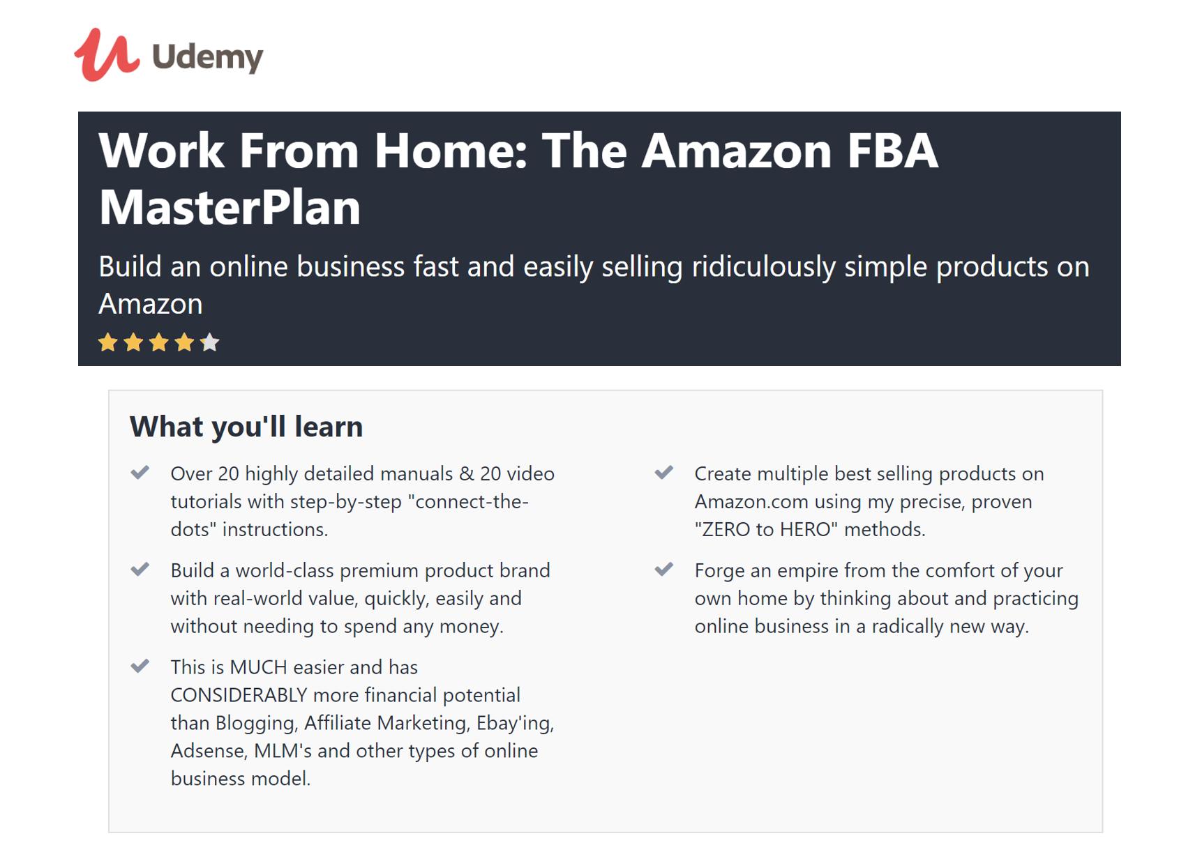 Udemy Amazon Course Description