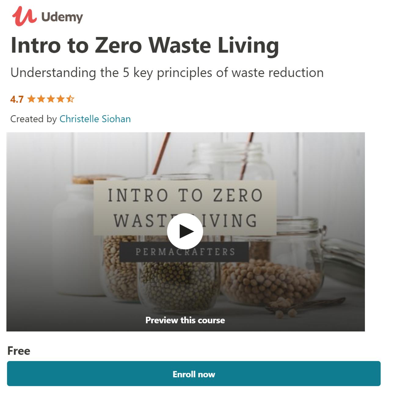 Udemy - Free Online Zero Waste Course