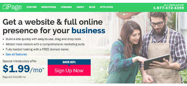 green-web-hosting-ipage